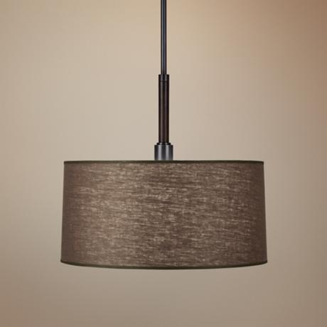 Robert Abbey Adaire Truffle Linen Shade Pendant Light