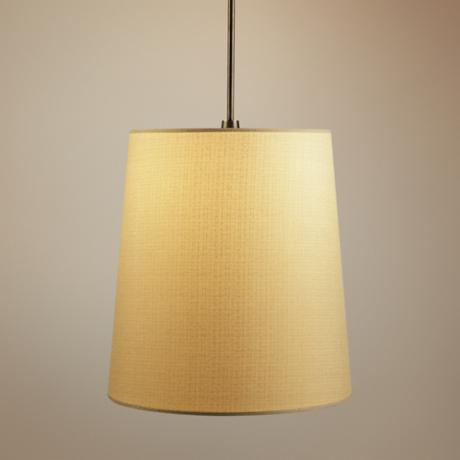 Robert Abbey Rico Espinet Buster Muslin Shade Pendant Light