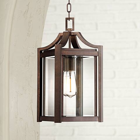 "Rockford Collection 17"" High Bronze Outdoor Hanging Light"