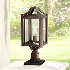 rockford collection 20 14 high bronze outdoor post light antique courtyard outdoor lighting 1