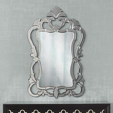 "Howard Elliott Contessa 43"" High Venetian Style Mirror"