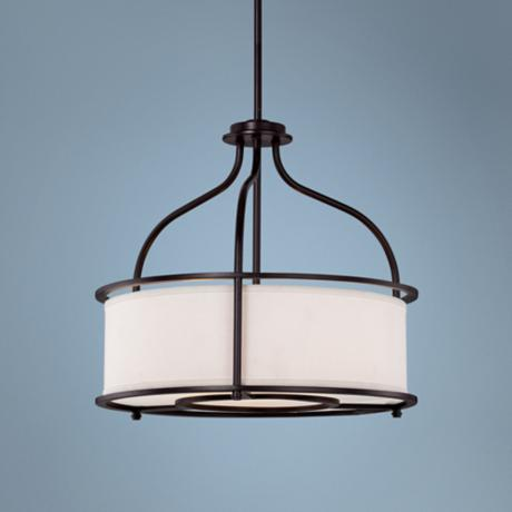 "Southampton 3-Light 20"" Wide Bronze Pendant Light"