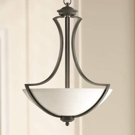 "Possini Euro Milbury 19 1/2"" Wide Dark Bronze Pendant Light"