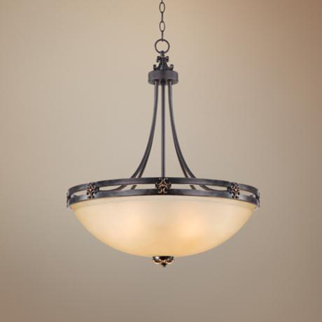"Greene Park 4-Light 24"" Wide Bronze Pendant Light"