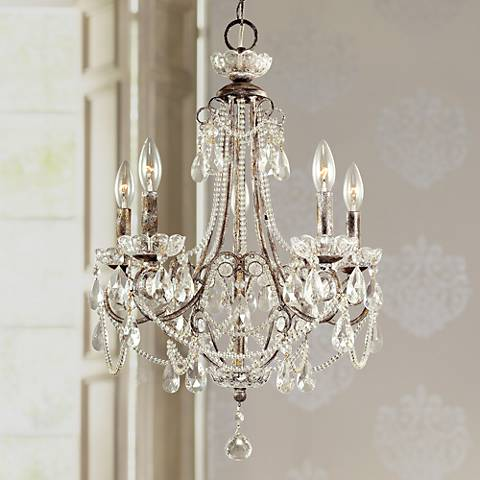 "Tivoli Gardens 18 1/4"" Wide 5-Light Mini Chandelier"