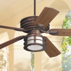 "52"" Casa Vieja Mission II Bronze Outdoor Ceiling Fan"