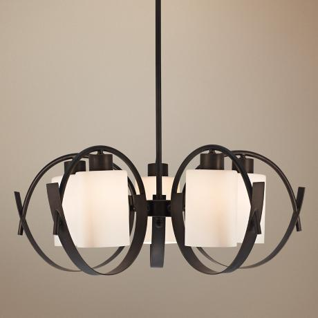 "Bronze Modern 27 1/2"" Wide Chandelier"