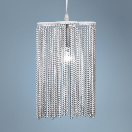 "Bellefonte 7 3/4"" Wide Silver Chain Mini Pendant Light"