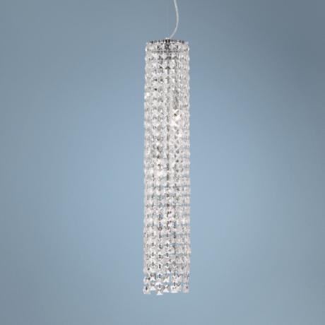 "Chrome 4-Light 5 1/4"" Crystal Long Mini-Pendant Light"