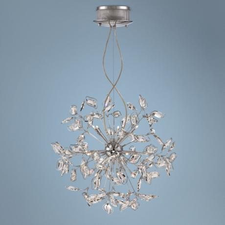 "Possini Euro 25 1/2"" Wide Modern Crystal Pendant Light"