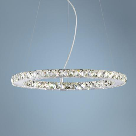 "Possini Euro Design 18 1/2"" Wide Crystal Disc Pendant Light"