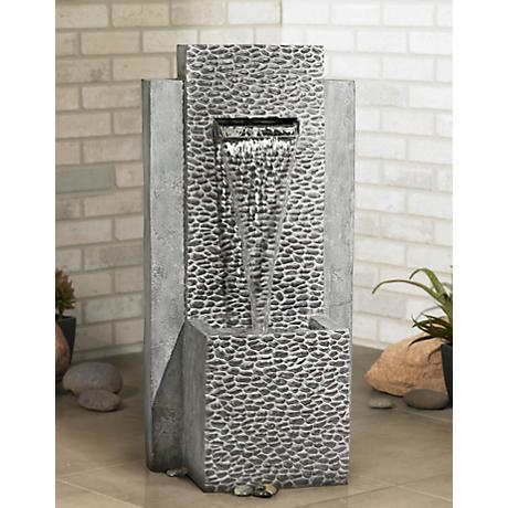 Tenaja Falls Indoor Outdoor Floor Fountain