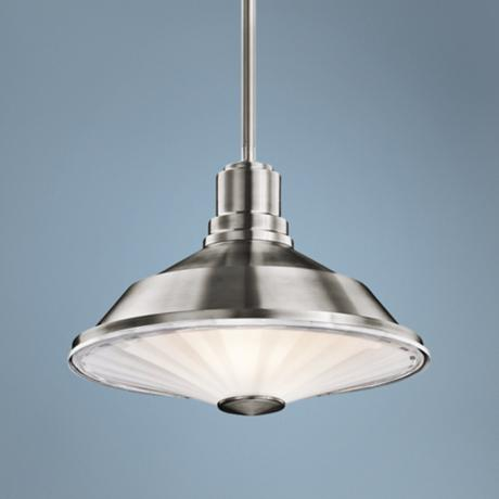 "Kichler Point Judith 12"" Wide Steel Outdoor Pendant Light"