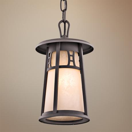 "Kichler Oak Bluffs 11 1/2"" High Bronze Outdoor Hanging Light"