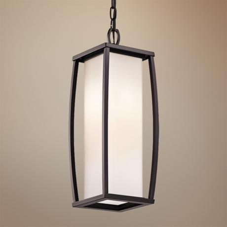 "Kichler Bowen 20 1/4"" High Bronze Outdoor Pendant Light"