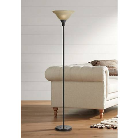 Skyler Bronze Torchiere Floor Lamp
