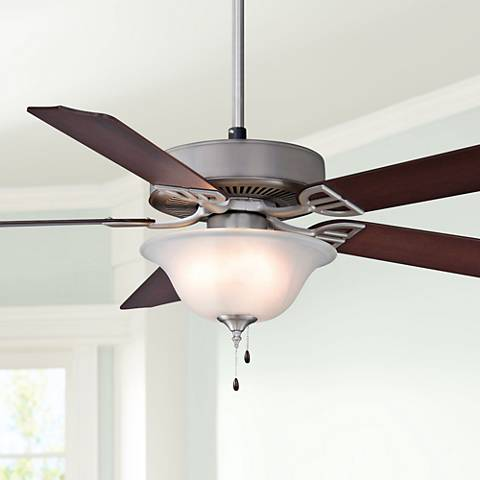 "52"" Fanimation Aire Decor Nickel Ceiling Fan"