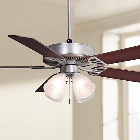 "52"" Fanimation Aire Decor Dual Mount Nickel Ceiling Fan"