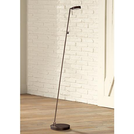George Kovacs Copper Bronze LED Floor Lamp