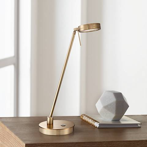 George Kovacs Honey Gold LED Desk Lamp