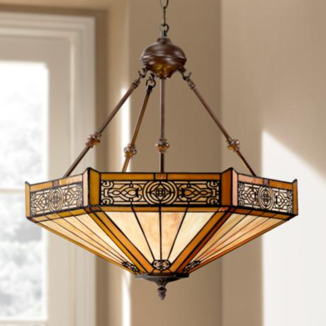 Stratford 3-Light Mission Tiffany Pendant Light