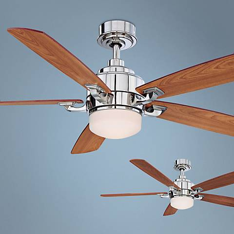 "52"" Fanimation Benito Polished Nickel Ceiling Fan"