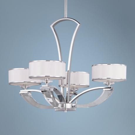 "Maxim Metro 31"" Wide 4-Light Polished Chrome Chandelier"