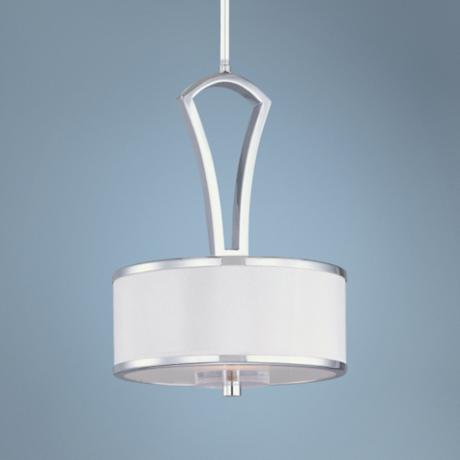 "Maxim Metro 8"" Wide Polished Chrome Mini Pendant Light"