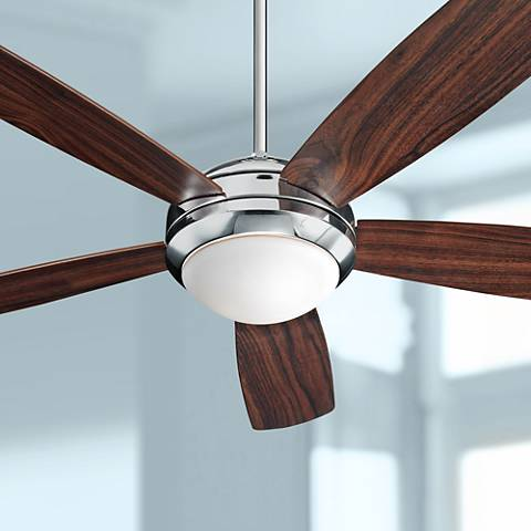 "52"" Monte Carlo Discus Polished Nickel Ceiling Fan"