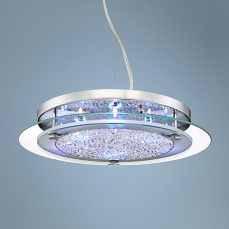 Possini Euro LED 6-Light Crystal Pendant Light