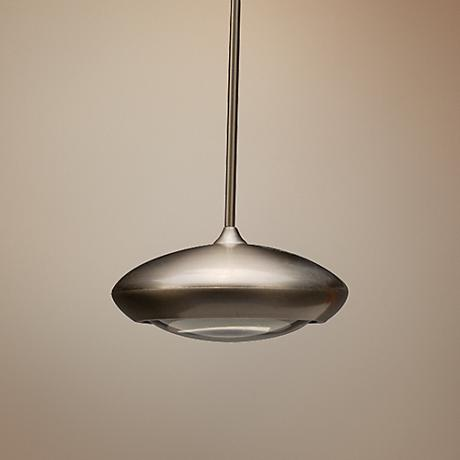 "WAC Quest 3 1/2"" Wide Nickel LED Mini Pendant Light"
