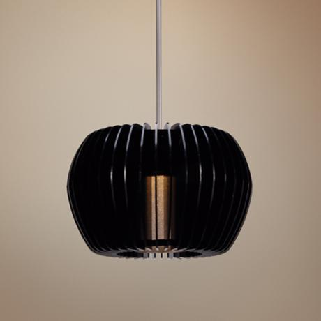 "WAC Uber 5 1/2"" Wide Gloss Black LED Pendant Light"