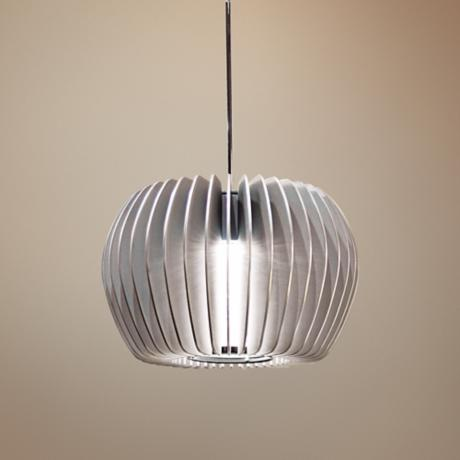 "WAC Uber 5 1/2"" Wide Platinum LED Pendant Light"