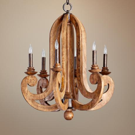 "Quorum Ashford 6-Light 26 1/2"" Wide Provincial Chandelier"