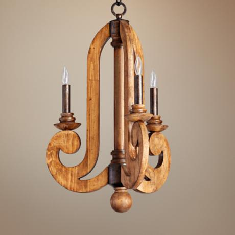 "Quorum Ashford 3-Light 18 1/2"" Wide Provincial Chandelier"