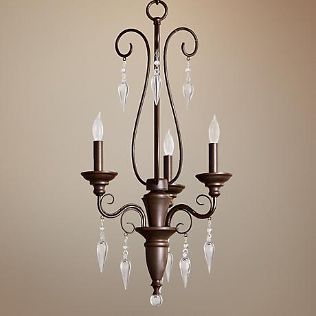 "Quorum Vesta 3-Light 16"" Wide Oiled Bronze Chandelier"