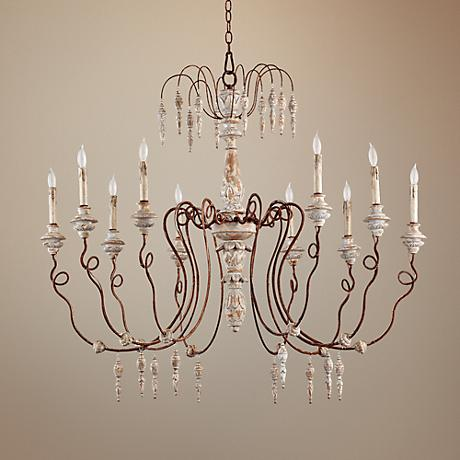 "Quorum La Maison 45"" Wide Manchester Grey Large Chandelier"