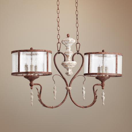Quorum La Maison 6-Light Manchester Grey Island Chandelier