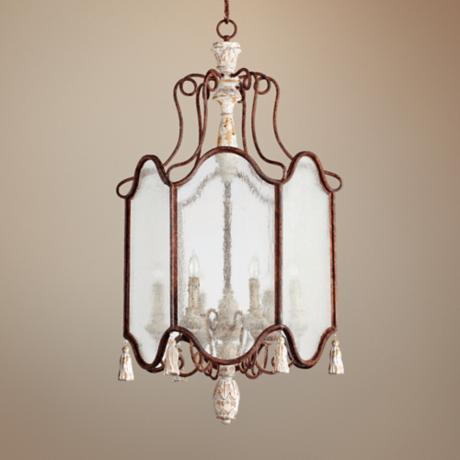 "Quorum La Maison 21"" Wide Manchester Grey Entry Chandelier"