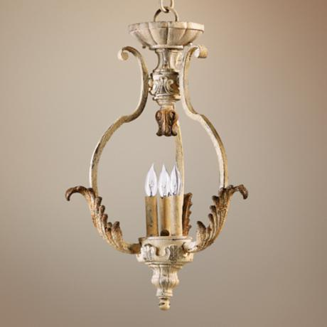 "Quorum Florence 16"" Wide 3-Light Persian White Chandelier"