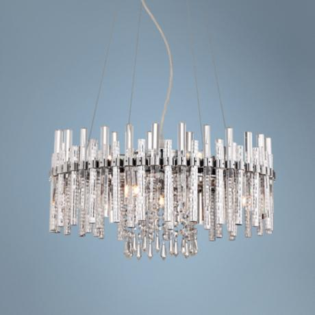 "Vienna Full Spectrum 18"" Wide Crystal and Chrome Chandelier"