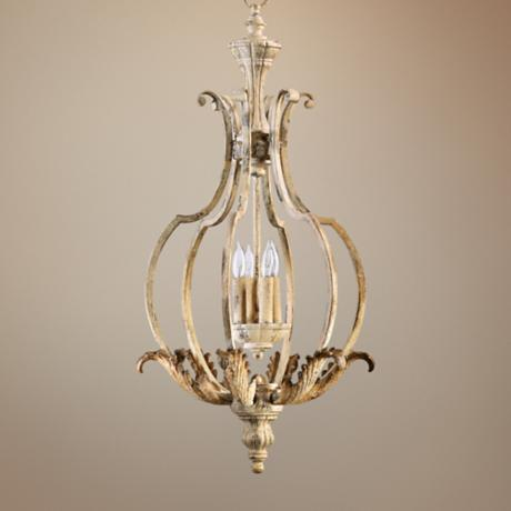 "Quorum Florence 17"" Wide 4-Light Persian White Chandelier"