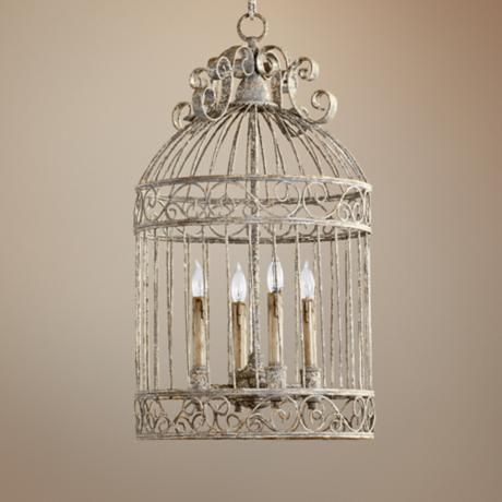 "Quorum Birdcage 4-Light 15"" Manchester Grey Pendant Light"
