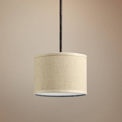 "Quorum Telluride 10"" Wide Oiled Bronze Mini Pendant"