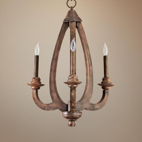 "Quorum Telluride 3-Light 15 1/2"" Wide Bronze Chandelier"