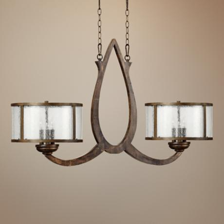 "Quorum Telluride 6-Light 45"" Wide Bronze Island Chandelier"