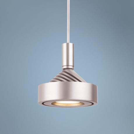 "Forecast Yo-Yo LED 4 1/2"" Wide Satin Nickel Mini Pendant"