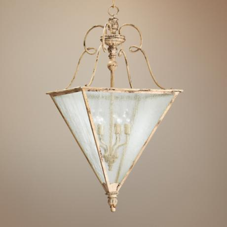 "Quorum Salento 6-Light 26 1/2"" Wide White Entry Chandelier"