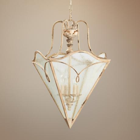 "Quorum Salento 4-Light 21"" Persian White Entry Chandelier"