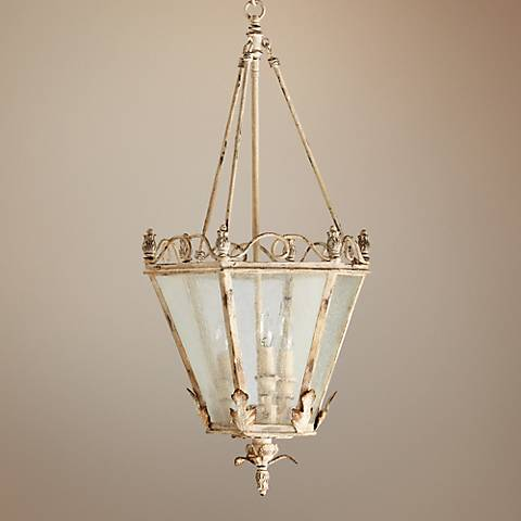 "Quorum Salento 3-Light 15"" Persian White Entry Chandelier"
